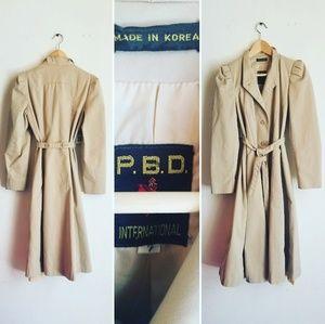 Vintage P. B. D. trench coat
